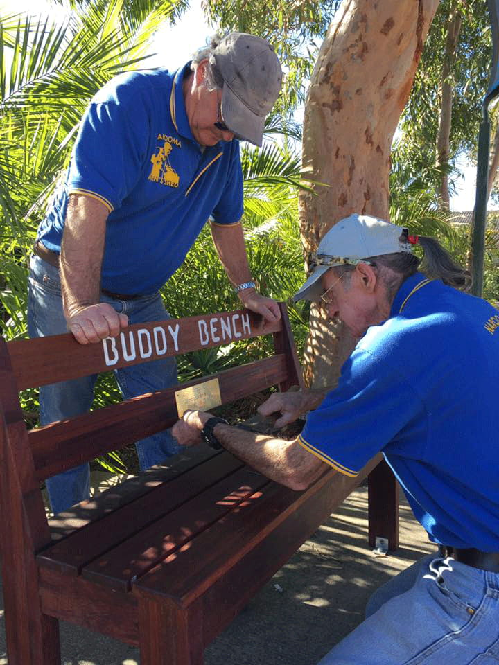 Narooma Men's Shed Buddy Bench