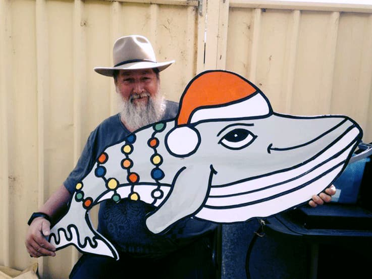 Narooma Men's Shed Whale Christmas Decoration