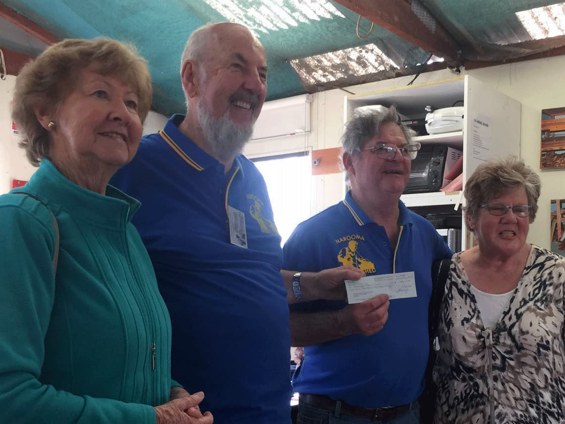 Uniting Church Drop in Centre Generous Donation to Narooma Men's Shed