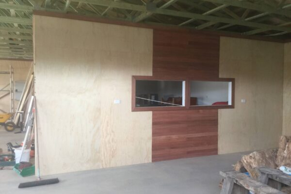 Feature Wall in the woodshed