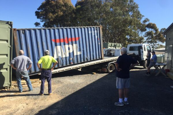Delivery of the last storage container
